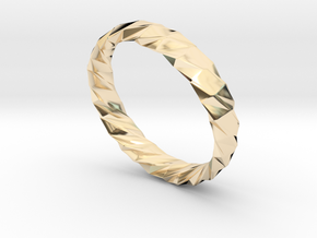 Twistium - Bracelet P=190mm h15 Alpha in 14K Yellow Gold