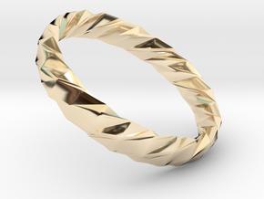 Twistium - Bracelet P=210mm h15 Alpha in 14K Yellow Gold