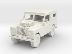 1/72 1:72 Scale Land Rover Soft Top Bonnet Wheel in White Natural Versatile Plastic