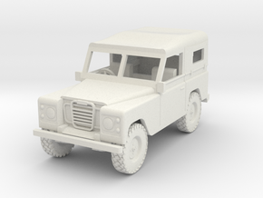 1/72 1:72 Scale Land Rover Soft Top Down in White Natural Versatile Plastic