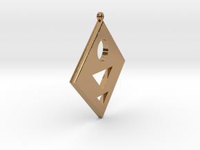 Rhombus Earring in Polished Brass