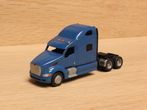 1:160 N Scale Peterbilt 387 Tractor x2 in Smooth Fine Detail Plastic