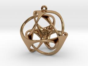 Triloop Pendant in Polished Brass