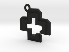 Health Pendant in Black Natural Versatile Plastic