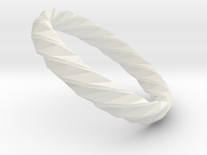 Twistium - Bracelet P=220mm h15 Alpha in White Natural Versatile Plastic