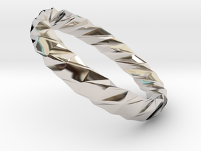 Twistium - Bracelet P=220mm h15 Alpha in Rhodium Plated Brass