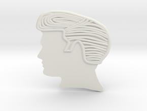 RockStar Hairstyle Belt Buckle in White Natural Versatile Plastic