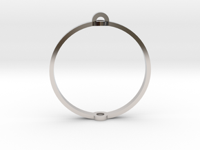 "World 1.25"" (Ring) in Rhodium Plated"