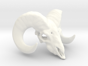 11:11 - The Ram Head Amulet in White Processed Versatile Plastic
