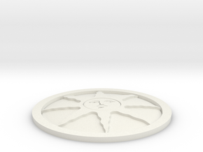 Sunlight Medal in White Natural Versatile Plastic