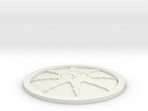 Sunlight Medal in White Natural Versatile Plastic