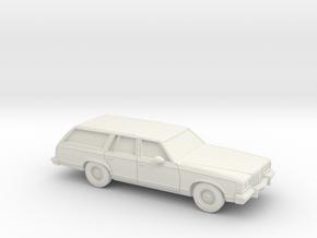 1/87 1977-78  Pontiac Grand Safari Station Wagon in White Natural Versatile Plastic