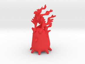 Ermaid riding Grimpoteuthis in Red Strong & Flexible Polished