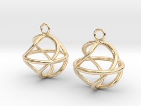 Twist ball earrings in 14k Gold Plated Brass