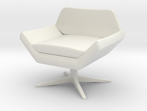 1:12 Sly Lounge Chair in White Natural Versatile Plastic