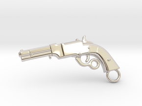 Volcanic Gun in Rhodium Plated Brass