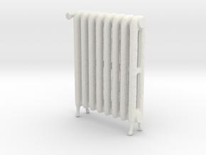 1:12 Decorative Radiator in White Natural Versatile Plastic