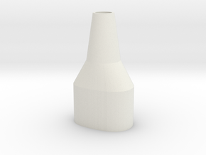 Pax 2 Water Pipe Adapter in White Natural Versatile Plastic