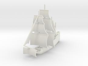 1/1000 Sailing Steam Galleon in White Natural Versatile Plastic