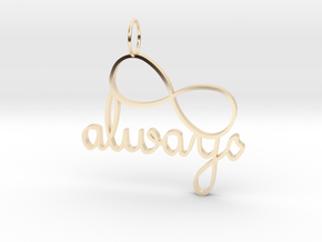 Always Infinity in 14k Gold Plated Brass