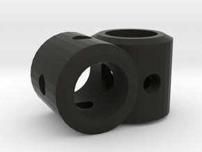 CLUNK Right Angle Dowel Joint in Black Natural Versatile Plastic