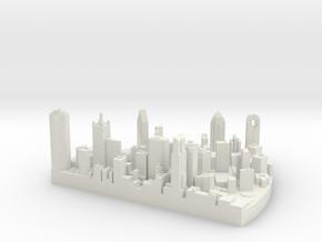 Dallas in White Natural Versatile Plastic
