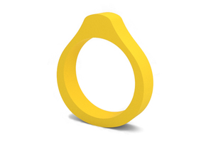 Ring in Yellow Processed Versatile Plastic