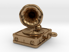Gramaphone Half Inch Game Piece in Natural Brass