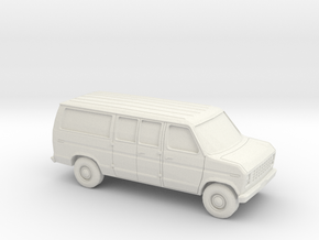 1/87 1975-91 Ford E-Series Van in White Natural Versatile Plastic