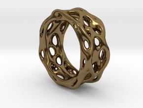 Organixz Ring 1 in Polished Bronze