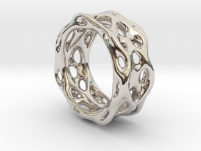 Organixz Ring 1 in Rhodium Plated
