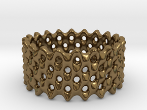 Lattice Ring No.2 in Polished Bronze