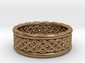 TreeSin Ring in Natural Brass