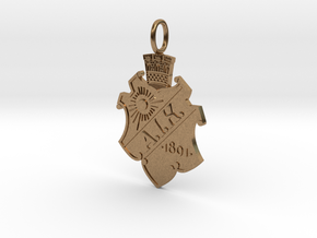 Gnaget-pendant in Natural Brass