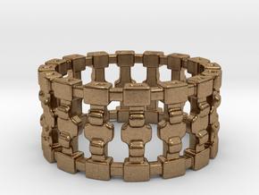 Treyu Ring in Natural Brass