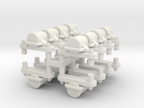 Gn15 O & K axleboxs 16 off (for 4 cars) in White Strong & Flexible