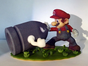 Mario Versus Bullet Bill ! in Full Color Sandstone