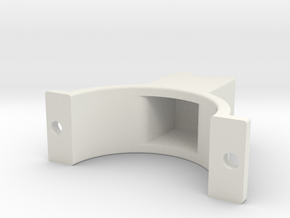 LSR Ring [Rear Top] in White Natural Versatile Plastic