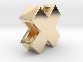 Swiss X mini 10mm in 14K Yellow Gold