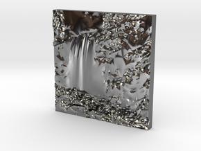 Hopetoun Waterfall in Fine Detail Polished Silver