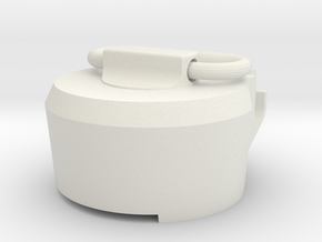 E11 rear cap in White Natural Versatile Plastic
