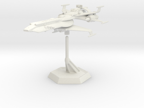 Star Sailers -  Hunter Class - Astro Fighter  in White Strong & Flexible