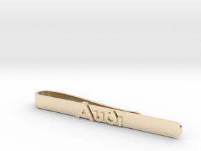 Luxury Audi Tie Clip - Minimalist in 14K Yellow Gold
