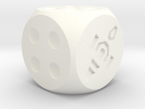 Dice Standard in White Processed Versatile Plastic