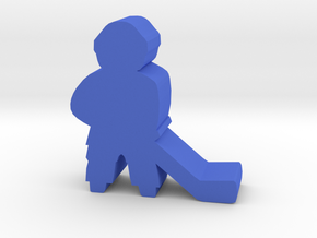 Game Piece, Hockey Player in Blue Processed Versatile Plastic