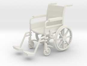 Wheelchair 01. 1:24 Scale in White Natural Versatile Plastic