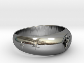 Ø0.683 inch/Ø17.35 mm Sea Turtle Ring in Polished Silver