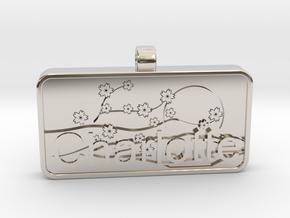 Charlotte Name Tag kanji katakana in Platinum