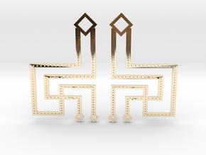 Loft Female- Earrings in 14k Gold Plated Brass