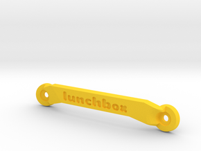 CW01 Chassis Brace - Front - Lunchbox in Yellow Strong & Flexible Polished